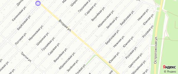 Абрикосовая улица на карте садового некоммерческого товарищества Надежды с номерами домов