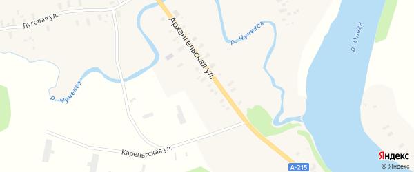 Школьная улица на карте Трофимовской деревни с номерами домов