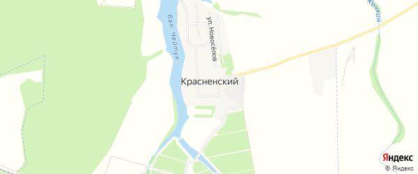 Карта Красненского хутора в Адыгее с улицами и номерами домов