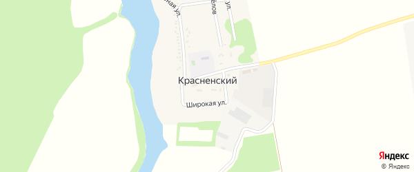 Степная улица на карте Красненского хутора с номерами домов