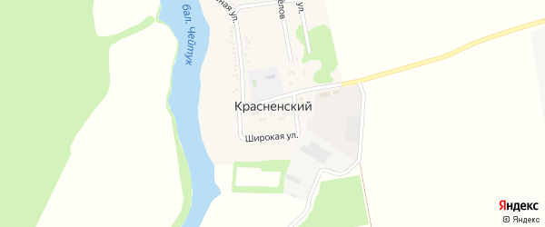 Улица Новоселов на карте Красненского хутора с номерами домов
