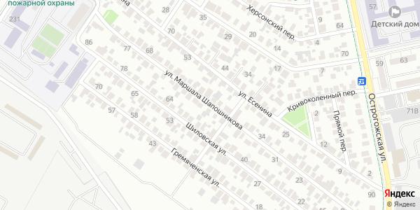 Маршала Шапошникова Улица в Воронеже