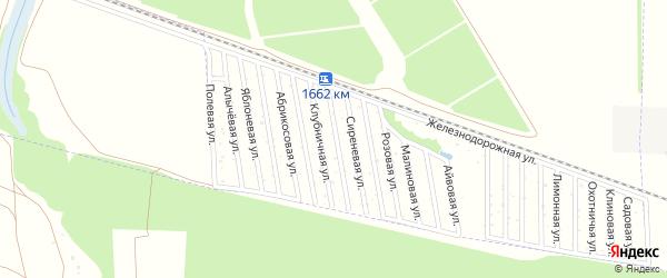 Калиновая улица на карте садового некоммерческого товарищества Дружбы-14 с номерами домов