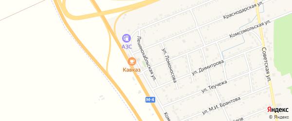 Ленинохабльская улица на карте Адыгейска с номерами домов
