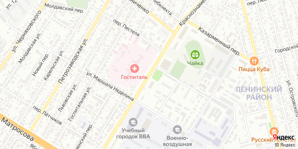 Краснознаменная Улица в Воронеже