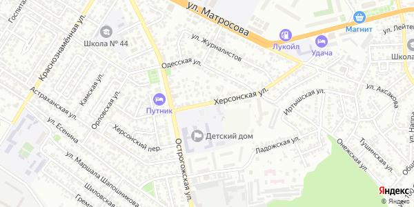 Херсонская Улица в Воронеже