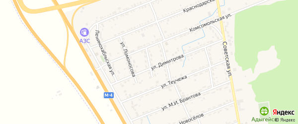 Улица А.Карпелюка на карте Адыгейска с номерами домов