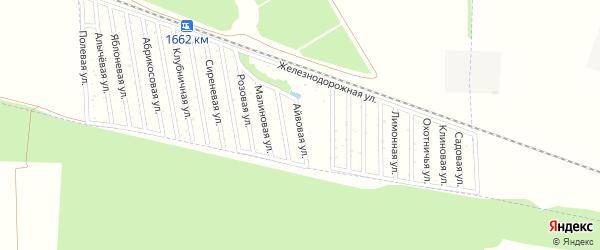 Айвовая улица на карте садового некоммерческого товарищества Дружбы-14 с номерами домов