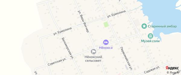 Улица Веры Фигнер на карте села Неноксы с номерами домов