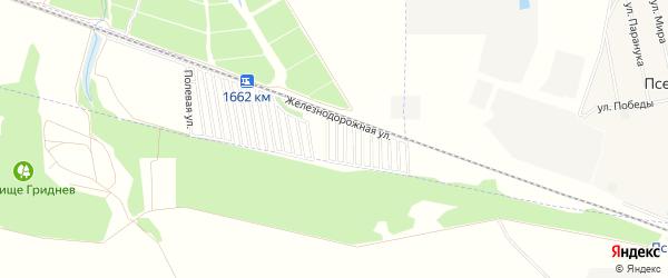 Карта садового некоммерческого товарищества Дружбы-14 в Адыгее с улицами и номерами домов