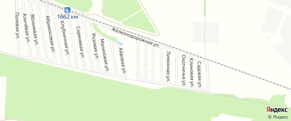 Облепиховая улица на карте садового некоммерческого товарищества Дружбы-14 с номерами домов