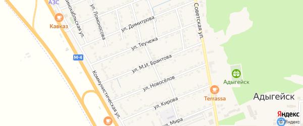Улица М.И.Брантова на карте Адыгейска с номерами домов
