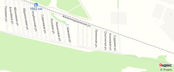Ежевичная улица на карте садового некоммерческого товарищества Дружбы-14 с номерами домов