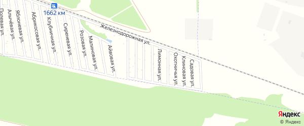 Смородиновая улица на карте садового некоммерческого товарищества Дружбы-14 с номерами домов