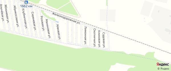 Лимонная улица на карте садового некоммерческого товарищества Дружбы-14 с номерами домов