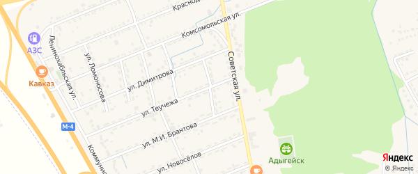 Майкопская улица на карте Адыгейска с номерами домов