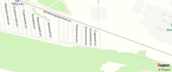 Охотничья улица на карте садового некоммерческого товарищества Дружбы-14 с номерами домов