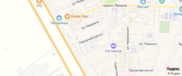 Лакшукайская улица на карте Адыгейска с номерами домов