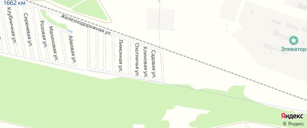 Садовая улица на карте садового некоммерческого товарищества Дружбы-14 с номерами домов