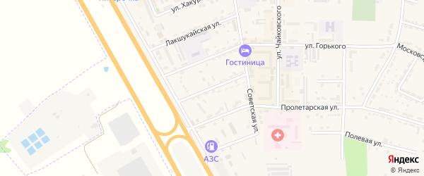 Улица А.Х.Кушмизокова на карте Адыгейска с номерами домов
