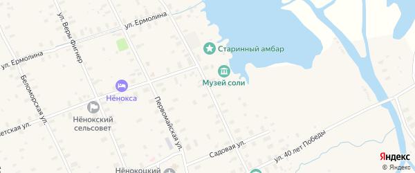 Октябрьская улица на карте села Неноксы с номерами домов