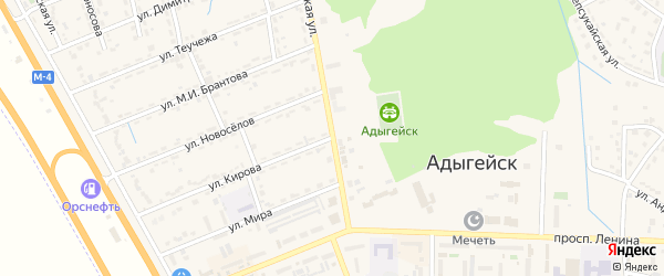 Советская улица на карте Адыгейска с номерами домов