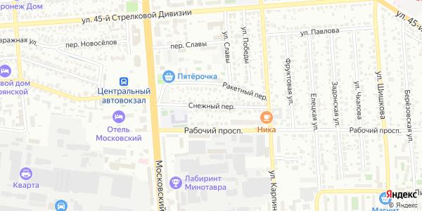 Снежный Переулок в Воронеже