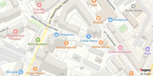 Мало-Московский Переулок в Воронеже