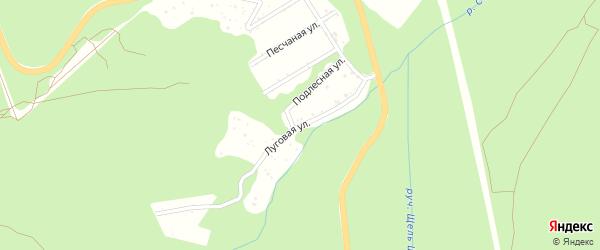 Луговая улица на карте садового некоммерческого товарищества Дружбы с номерами домов
