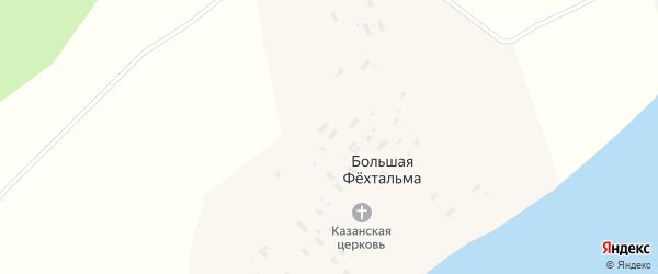 Майская улица на карте деревни Большей Фехтальмы с номерами домов