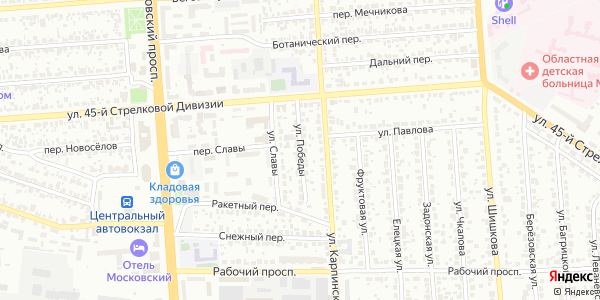 Победы Улица в Воронеже