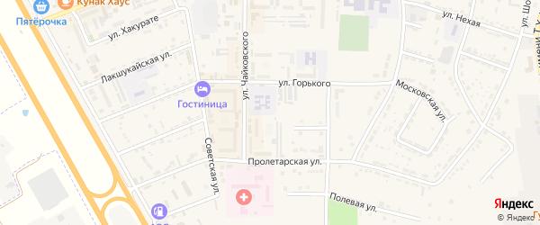 Центральный проспект на карте Адыгейска с номерами домов