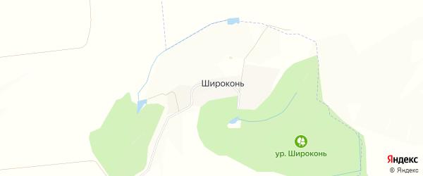 Карта хутора Широкони в Белгородской области с улицами и номерами домов