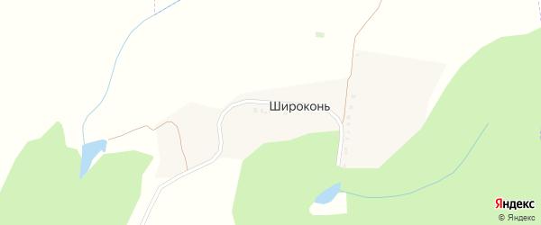 Криничная улица на карте хутора Широкони с номерами домов