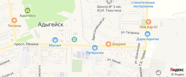 Эдепсукайская улица на карте Адыгейска с номерами домов