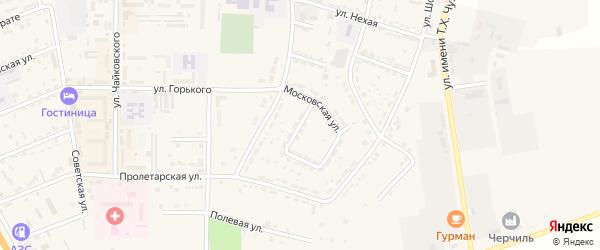 Шабанохабльская улица на карте Адыгейска с номерами домов