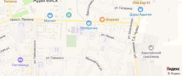 Улица Карданова на карте Адыгейска с номерами домов