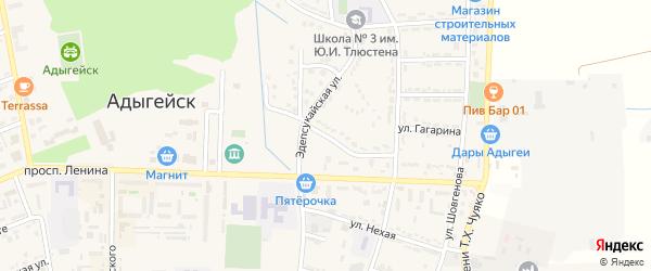 Улица Андрухаева на карте Адыгейска с номерами домов