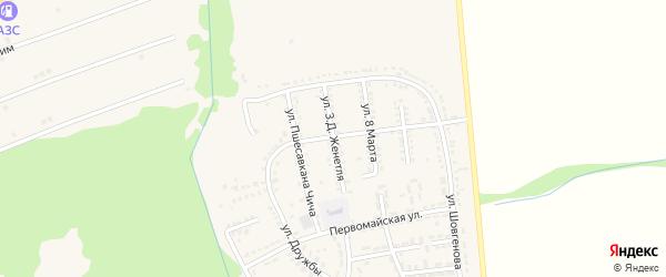Улица З.Д.Женетля на карте Адыгейска с номерами домов