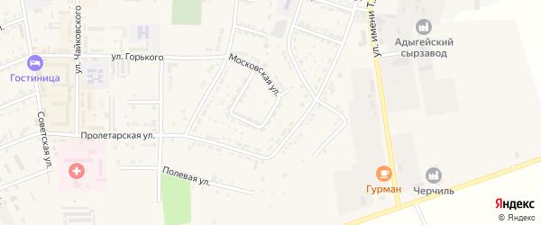 Улица Чуц на карте Адыгейска с номерами домов