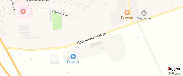 Промышленная улица на карте Адыгейска с номерами домов