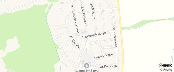Первомайская улица на карте Адыгейска с номерами домов