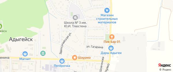 Улица Дружбы на карте Адыгейска с номерами домов