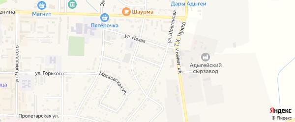 Улица Тельмана на карте Адыгейска с номерами домов