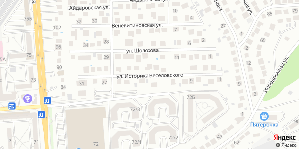 Историка Веселовского Улица в Воронеже