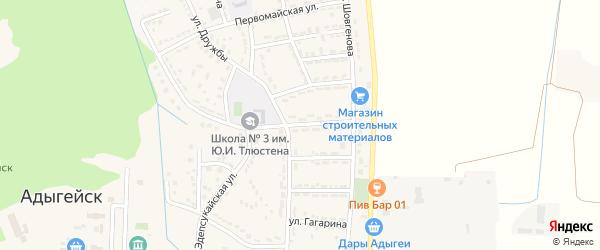 Улица Пушкина на карте Адыгейска с номерами домов