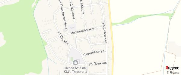 Улица Бжигакова на карте Адыгейска с номерами домов