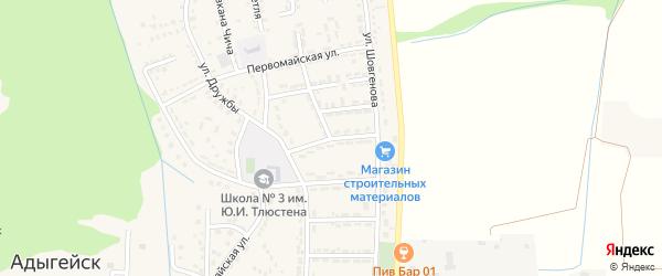 Пионерская улица на карте Адыгейска с номерами домов