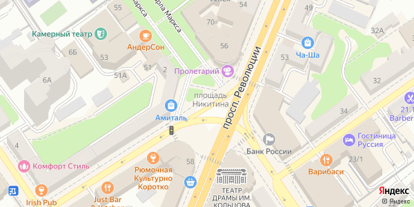 Никитина Площадь в Воронеже