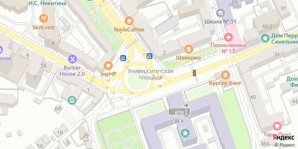 Университетская Площадь в Воронеже